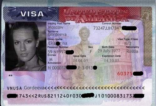 USA visa sample